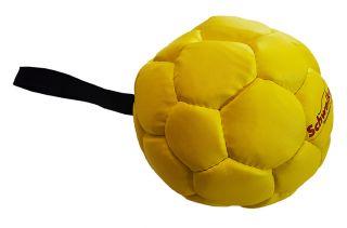 Kožený balón plněný vzduchem Ø 18 cm, žlutý